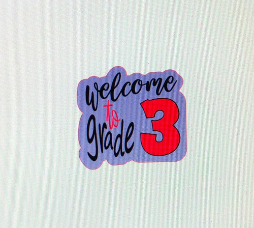Welcome To Grade Plaque