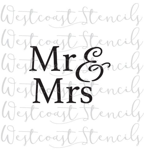 MR AND MRS, STYLE 1