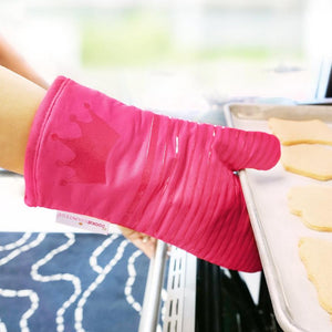Perfect Oven Mitt Heat Resistant Silicone Grip with Soft Cotton