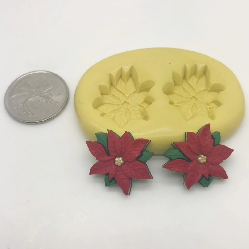 Poinsettia Flower Mold silicone