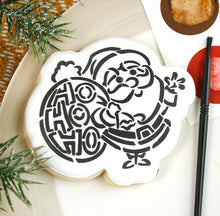 Load image into Gallery viewer, Ho Ho Ho Santa PYO Stencil - Drawn by Krista