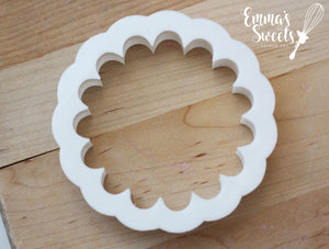 Scallop Circle Cookie Cutter for Embossers