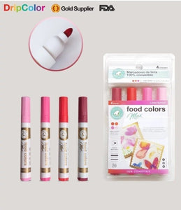 Dripcolor 4 pc EDIBLE Marker Set -Sunset