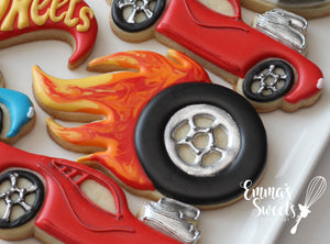 Wheel with Flames