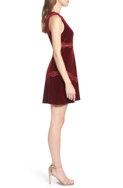 Lolita Red Velvet Mini Dress by Foxiedox - FINAL SALE