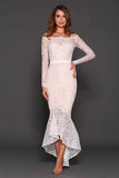 Rent this white lace gown by Elle Zeitoune in Toronto at Studio Fitzro