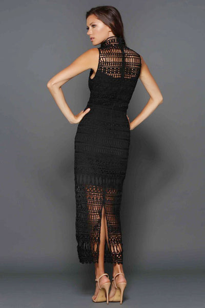 Jaylyn Dress in Black by Elle Zeitoune - RENTAL