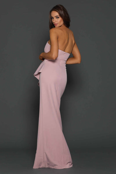 Esmerelda Gown in Blush by Elle Zeitoune - RENTAL