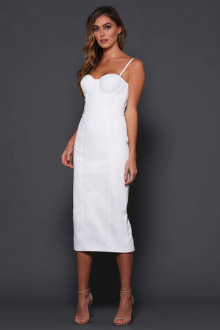 Penny Dress in white Elle Zeitoune