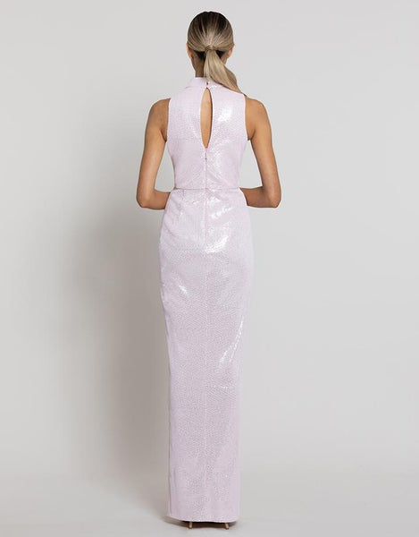 Nadia High Neck Gown by Bariano - RENTAL