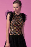 Peaseblossom Sequin and Ruffle Two Piece Set by Gemy Maalouf - RENTAL