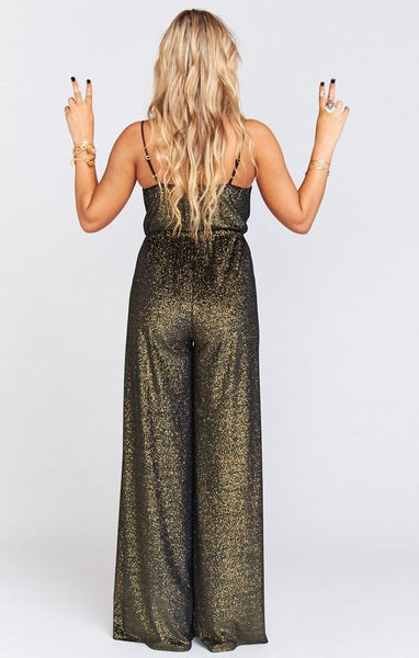 Jagger Jumpsuit in Golden Glam by Show Me Your Mumu - FINAL SALE