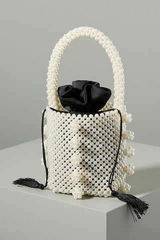 Ravelo Pearl Top Handle Bag by Emm Kuo NY - RENTAL