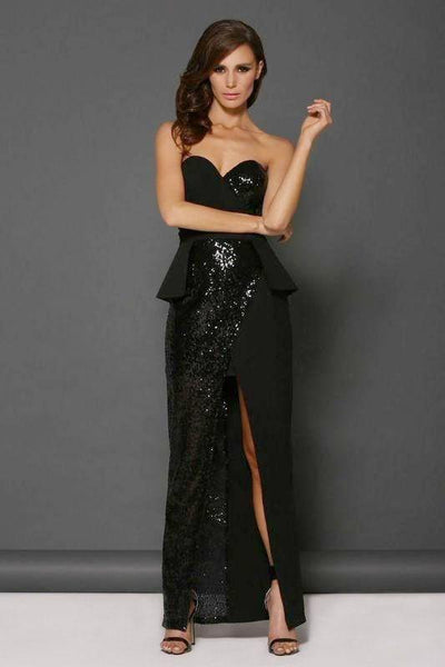 Cara Gown in Black by Elle Zeitoune - RENTAL