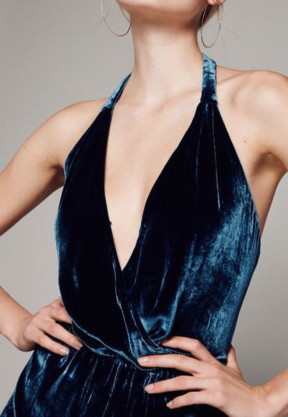 Rumpled Silk Jumpsuit by Free People - RENTAL