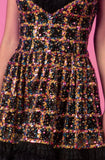 Helena Sequin and Ruffle Cocktail Dress by Gemy Maalouf - RENTAL