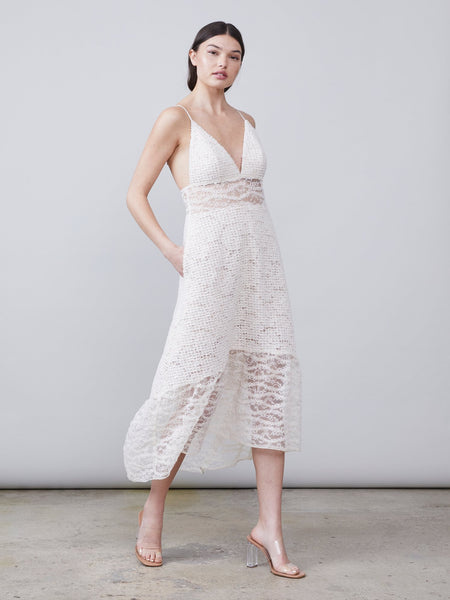Bella Mixed Lace Dress by Allen Schwartz - RENTAL