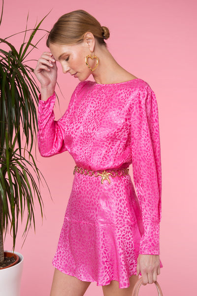 Clarisse Pink Mini Dress by Rixo London - RENTAL