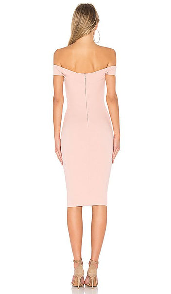 Dolly Midi Dress in Blush by Nookie - RENTAL