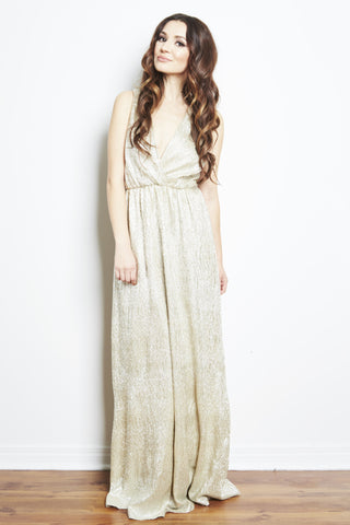 Golden Goddess Maxi Dress by Bardot, dress rentals canada, dress rentals toronto, dress rentals hamilton, dress rentals vaughan, dress rentals mississuaga, black tie dress rental, designer dress rental canada, formal dress rental toronto, formal dress rental canada, maternity dress rental