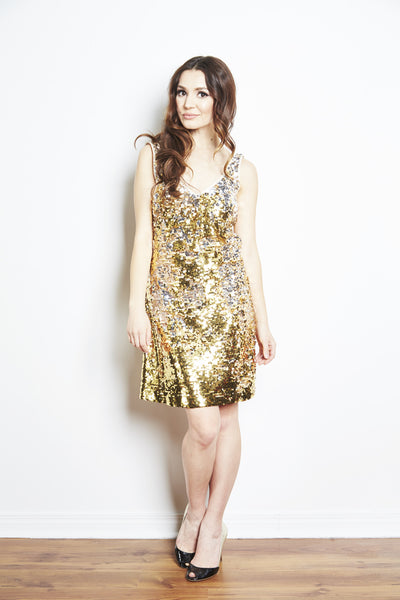 Lynne Two Tone Sequin Tank Dress by Brose - FINAL SALE