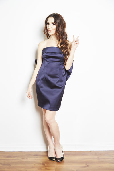 Bow Back Dress in Navy by Brose - RENTAL