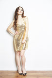 Pfeiffer Gold Slipdress by Brose - RENTAL