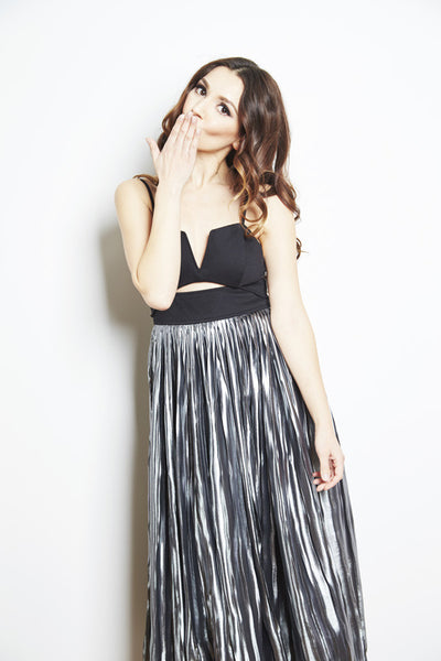 Piper Pleated Midi Dress by Free People, dress rentals canada, dress rentals toronto, dress rentals hamilton, dress rentals vaughan, dress rentals mississuaga, designer dress rental canada, dress rental toronto, maternity dress rental