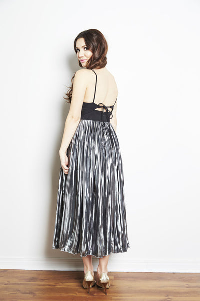 Piper Pleated Midi Dress by Free People - RENTAL
