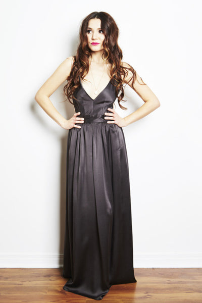 Bibb Maxi Dress in Smoke by Contrarian New York - RENTAL