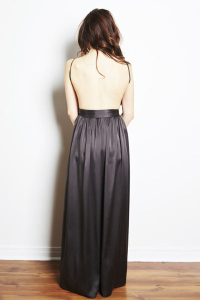 Bibb Maxi Dress in Black by Contrarian New York - RENTAL
