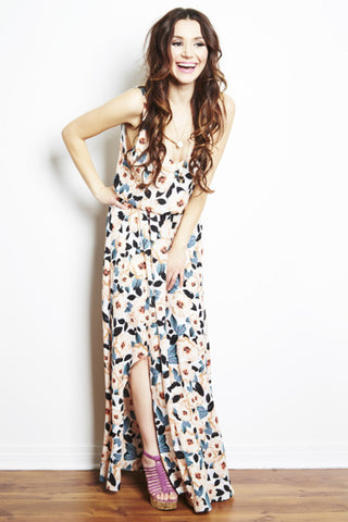 Kendall Maxi Dress in Steel Magnolia by Show Me Your Mumu - RENTAL