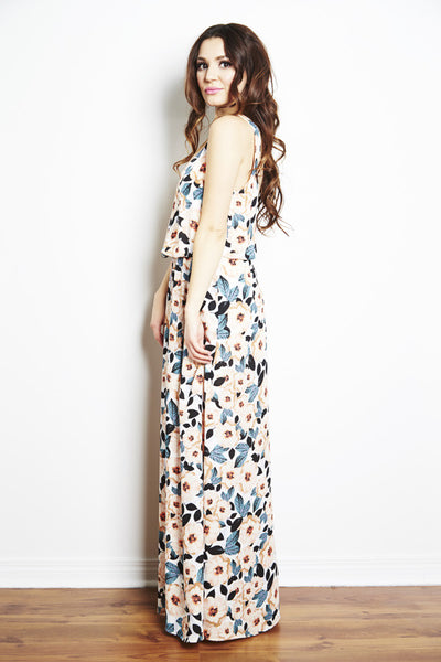 Kendall Maxi Dress in Steel Magnolia by Show Me Your Mumu, dress rentals canada, dress rentals toronto, dress rentals hamilton, dress rentals vaughan, dress rentals mississuaga, designer dress rental canada, dress rental toronto, maternity dress rental, show me your mumu bridesmaid dress, bridesmaid dress rental, floral maxi dress