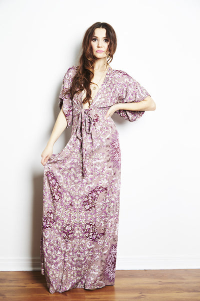 Kimono Maxi Dress by Ale by Alessandra, maxi dress rental, wedding guest dress rental, toronto dress rental, maternity dress, maternity dress rental