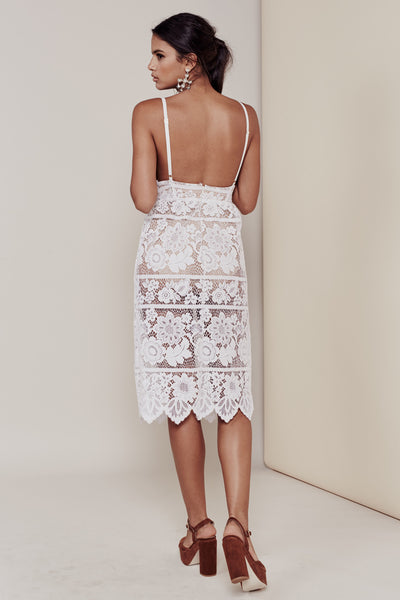 White Lace Dress For Love and Lemons Canada