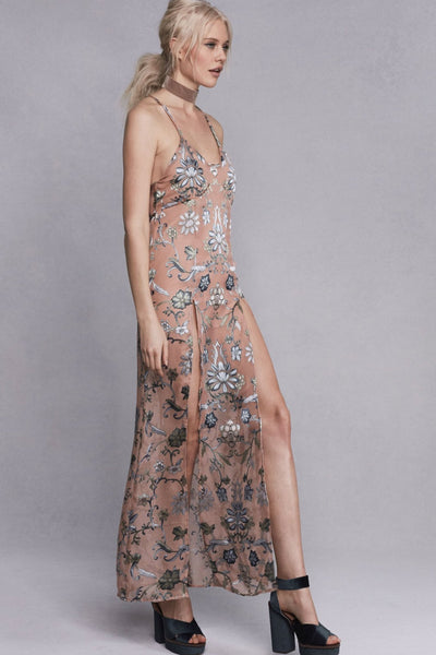 Saffron Sleeveless Slip Dress by For Love and Lemons - FINAL SALE