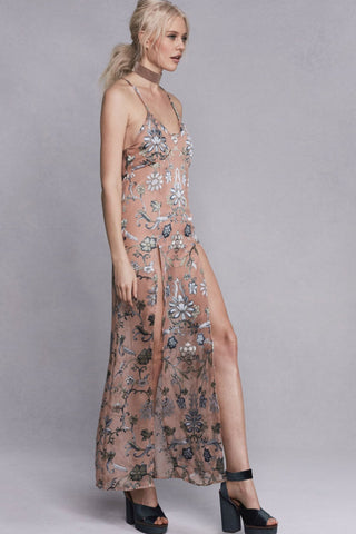 Saffron Sleeveless Slip Dress by For Love and Lemons - RENTAL