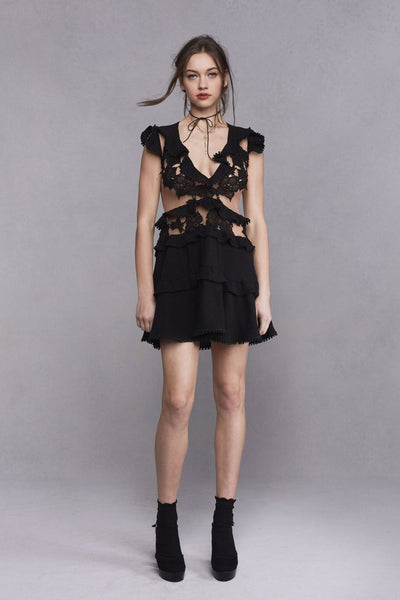Laney Lou Dress in Black by For Love and Lemons - RENTAL