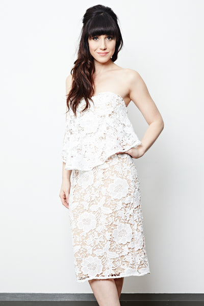 White dress rental from Toronto's Fitzroy Boutique