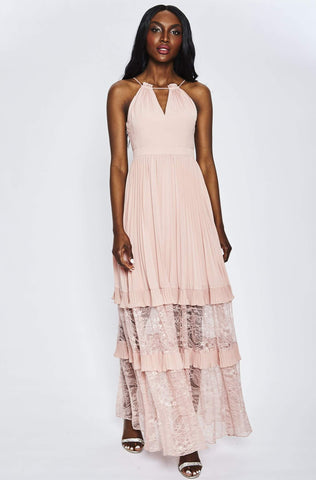 Dream Weaver Pleated Dress by Aidan Mattox - RENTAL