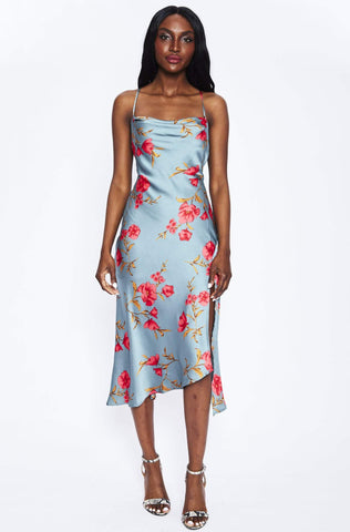 Gaia Dress in Teal Floral by ASTR - RENTAL