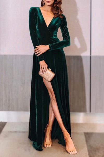 Fontaine Green Velvet Gown by Elle Zeitoune - RENTAL