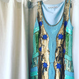 Klimt Beaded Sequin Dress by Narces - RENTAL