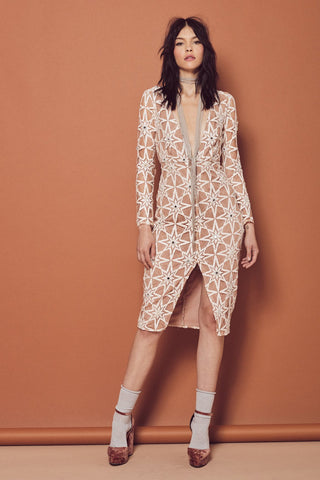 Metz Midi Dress by For Love and Lemons - RENTAL