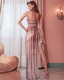 Hermia Asymmetrical Sequin Gown by Gemy Maalouf - RENTAL