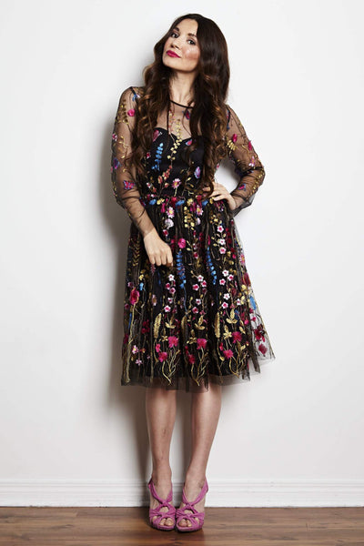 Caitlin Embroidered Dress by Jordan de Ruiter - RENTAL