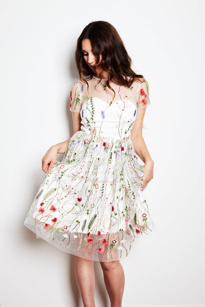Secret Garden Dress in White by Jordan de Ruiter - FINAL SALE