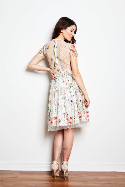 Secret Garden Dress in White by Jordan de Ruiter - RENTAL