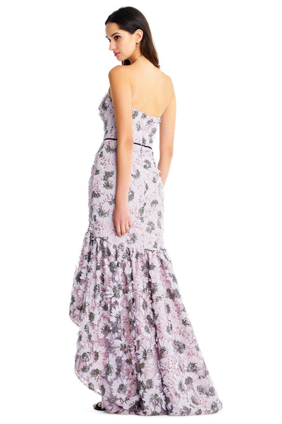 Charlotte Floral Beaded Strapless Gown by Aidan Mattox - RENTAL