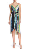 Striped Neon Sequin Dress Aidan Mattox